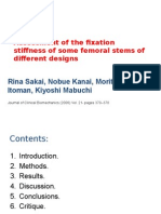 Assessment of the fixation stiffness