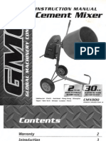 GMC Cement Mixer manual