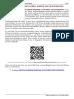 Writing English Answer Key Fourth Edition L0P1