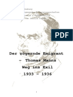 Der Zögernde Emigrant - Thomas Manns Weg Ins Exil 1933-1936 [Jessica Franke]
