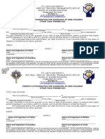 SLU NSTP Form 13- Authorization Forms