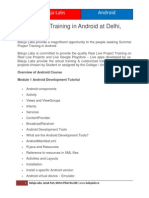 Live Project Training in Android at Delhi, Janakpuri