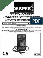 Draper Multimeter Ins