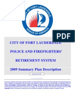 City of Fort Lauderdale Police and Fire Retierment Plan 2009 Summary Plan Description.