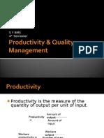 Productivity & Quality Management 2