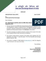 Requirements under SEBI (Share Based Employee Benefits) Regulations, 2014