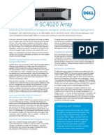 DellStorage SC4020 Spec Sheet 030714