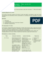 flipped classroom final lesson plan