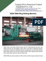 D53K-3000 Ring Rolling Machine