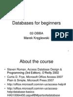Databases for Beginners