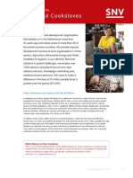 Improved Cookstoves Factsheet