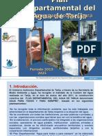 Presentación Plan Departamental Del Agua de Tarija 2013 - 2025