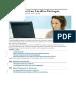 SAP Best Practices Baseline Packages