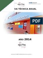 Memoria Tecnica Centro de Día El Copo 2014 - Imas
