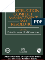 Construction Conflict Management and Resolution-P Fenn Taylor Francis-2005