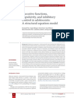 Executive functions, impulsivity, and inhibitory control in adolescents
