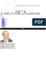La Crónica de Hoy | Respaldo ciudadano al proyecto presidencial - Dr. Manuel Añorve Baños