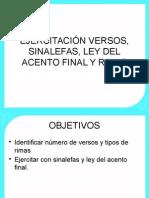 Ejercitación Versos, Sinalefas, Ley Del Acento