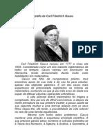 Biografia de Carl Friedrich Gauss