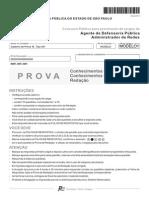 Fcc 2013 Dpe Sp Agente de Defensoria Administrador de Redes Prova