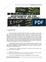 Assessment of the Initial Public Offering
