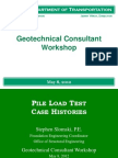 2012 Workshop Driven Piles Case Histories
