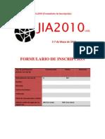 JIA2010 (Formulario de Inscripción)