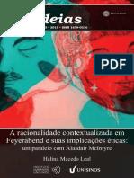 A racionalidade contextualizada em Feyerabend e suas implicações éticas