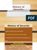 Criminology History of Security
