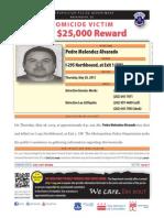 Pedro Melendez-Alvarado Reward Poster