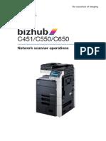Bizhub c451 c550 c650 Scanner En