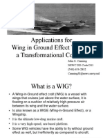 Applications for Wing in Ground Effect Vessels,a Transformational Concept
