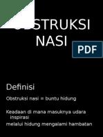 Obstruksi Nasi