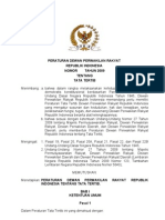 Peraturan Dewan Perwakilan Rakyat Republik Indonesia Nomor