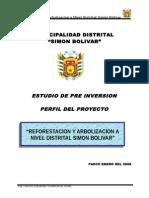 Perfil Reforestacion y Arbolizacion a Nivel Distrital Simon Bolivar