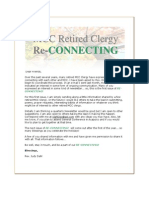 Retired Clergy Re-Connecting - October 2009