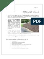 Retaining Walls Types