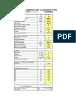 Cálculo Óptimo de Tuberia Forzada (Central Hidroelectrica)