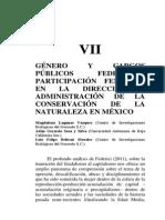 Género cargos Publicos Comisión Nacional Áreas Potegidas México