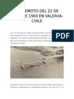 Terremoto Del 22 de Mayo de 1960 en Valdivia