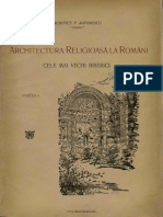 Petre Antonescu - Arhitectura Religioasa La Romani. Partea 1