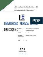 Trabajo Grupal Control y Direccion Empresarial