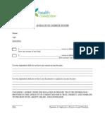Affidavit Current Income