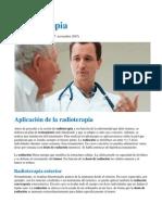 Radioterapia 3 - Aplicación de la radioterapia