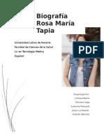 Biografía Rosa Maria Tapia
