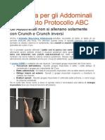 Più Forza Per Gli Addominali Con Questo Protocollo ABC
