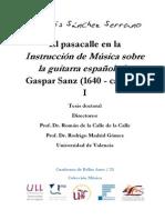 El Pasacalle en La Instrucción de Música Sobre La Guitarra Española de Gaspar Sanz (1640 - CA. 1710) - I