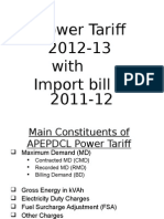 Power Tariff 2012-13