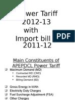 Power Tariff 2012-13