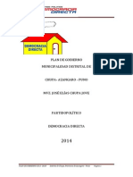 Plan de Gobierno Chupa 2014